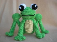 Happy Hoppy Frog Crochet Amigurumi Pattern. $3.98, via Etsy.