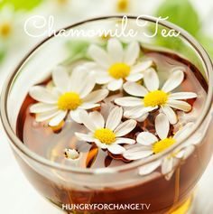 Chamomile tea has been shown to relax the body and muscles before sleep. Although chamomile's benefits have not been medically proven, it has been used for centuries for its sedative qualities as well as an immune booster. Go ahead and brew up a pot of fresh tea to give your body a helping hand. Even better, add some raw honey into your tea (once it has cooled to drinking temperature to retain raw honey's beneficial enzymes) for an additional boost. www.hungryforchange.tv