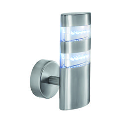 Searchlight 5308 Satin Silver Outdoor LED Wall Light
