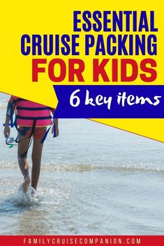 """When packing for a cruise to the Caribbean with kids, you absolutely want to remember these 6 items. They will contribute to your fun and peace of mind. While forgetting them will add to your aggravation and expenses. This is a """"don't forget this"""" list for your family cruise planning. Packing List For Cruise, Cruise Tips, Packing Tips For Travel, Travel With Kids, Family Travel, Family Cruise, Caribbean Cruise, Peace Of Mind, Forget"""