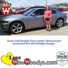 Sunshine and a new to you car makes for the perfect day, congratulations! 🎉 #wow #wowwoodys #woodysautomotive #cars #trucks #suvs #carsforsale #trucksforsale #suvsforsale #kansascity #chillicothe #customerreviews #customertestimonials #wowcarbuying #carshopping #happycustomers #2018dodgecharger #2018dodge #dodgecharger #dodge #charger