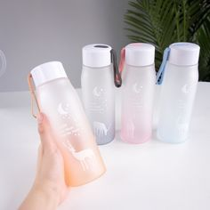 Artistic Beautiful Plastic Water Bottles With Rope Leak Proof Excessive High quality Journey Moveable Water Bottle BPA Free For Women Present Drinking Water Bottle, Cute Water Bottles, Bpa Free Water Bottles, Steel Water Bottle, Infused Water Bottle, Glass Water Bottle, Drink Bottles, Water Water, Thermal Flask