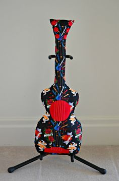 Classic Glam Rock Guitar Pillow / Guitar Softie by pookiedookie