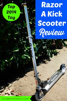 Learn more about 2014's hottest ride-on toy, part of the @walmart Chosen by Kids list, in our Razor A Kick Scooter review!