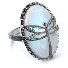 Murdoch Mysteries - Moonstone Dragonfly Ring with White Rainbow Moonstone Stone Shop Engagement Rings, Rose Gold Engagement Ring, Diamond Wedding Bands, Wedding Rings, Bling Bling, Dragonfly Jewelry, Thing 1, Moonstone Pendant, Ring Set