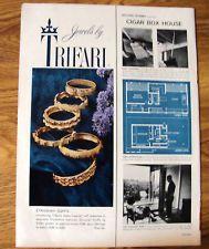 1959 Jewels by Trifari Jewelry Ad Etruscan Cuffs