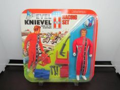 VINTAGE 1975 EVEL KNIEVEL RACING SET IDEAL New MOC #3421-5 Unpunched Sealed MIP
