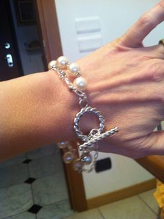 Silver and Pearls bracelet Handmade by My Fairy Cakes