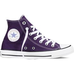 Converse Chuck Taylor All Star Fresh Colors – eggplant peel Sneakers (240 RON) ❤ liked on Polyvore featuring shoes, sneakers, converse, eggplant peel, rubber sole shoes, converse trainers, hi tops, converse shoes and high top shoes