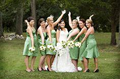green dresses like my mermaids will be wearing