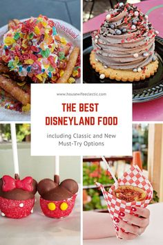 The Best Disneyland Food: Including Classic and New Must-Try Options There are so many things to eat at Disneyland, how do you know which things are worth trying? We went to Disneyland and tried everything and here are our votes! Comida Disneyland, Best Disneyland Food, Disneyland Dining, Disneyland Rides, Disneyland Secrets, Disneyland Vacation, Disney Dining, Best Disneyland Restaurants, Cruise Vacation