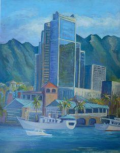 Honolulu Harbor View | by Warren Stenberg