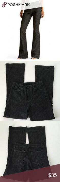 J Brand The Doll High Rise Jeans, size 27 J Brand The Doll High Rise Jeans in size 27. Color is Blacktop a blackish gray. Flat lay measure of the waist is 14.5. Rise is 10,5, inseam is 32 and leg opening is 10.25. Made from 98% cotton and 2% Lycra. In excellent condition, please ask if you have any questions. J Brand Jeans Flare & Wide Leg