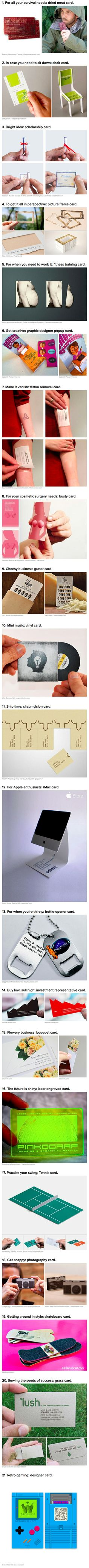 Want your business to get noticed? Here are 21 awesome business cards that will do just that.