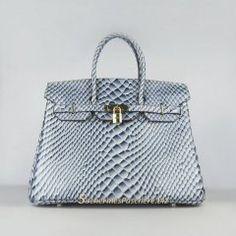 1272f94cae Sacs Hermès Pas Cher Birkin 35cm Fish Veins Cuir Sac Bleu 6089 Hermes Bags,  Hermes