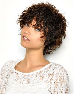 short choppy haircuts for curly hair plus size faces Haircuts For Curly Hair, Curly Hair Cuts, Short Curly Hair, Hairstyles With Bangs, Short Hair Cuts, Curly Hair Styles, Natural Hair Styles, Shaggy Hairstyles, Hair Styles 2016