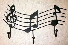 WROUGHT IRON Music Inspired Coat Rack