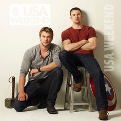 Chris Hemsworth & Chris Evans