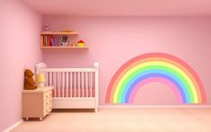 This PASTEL RAINBOW Wall Sticker decal plain children's bedroom nursery car art vinyl graphic mural 2 sizes is just one of the custom, handmade pieces you'll find in our murals shops. Car Art, Rainbow Bedroom, Pastel Nursery, Bedroom Wall Colors, Bedroom Ideas, Nursery Decals, Nursery Room, Kids Room Wall Art, Vinyl Wall Art