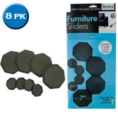 8 Piece Furniture Sliders Set   Great For Home Or Office