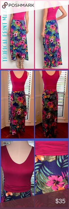 8cfc02c7663 🅢🅐🅛🅔🌺🏝GORGEOUS TROPICAL PRINT MAXI🌺🏝 GORGEOUS!! Scoop neck