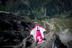 The first three seconds of a wingsuit flight are the most important. Base, Mountains, Photo And Video, Outdoor Decor, Nature, Travel, Instagram, Switzerland, Naturaleza