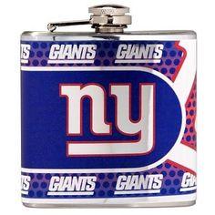 Stainless Steel 6 oz. Flask with Metallic Graphics New York Giants - 44575