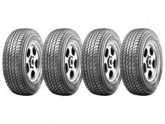 Conjunto de 4 Pneus Bridgestone 265/70R16 Aro 16 - Dueler H/T 840 para Caminhonete/SUV e Van