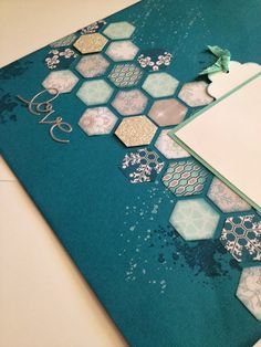 Linda Higgins: Sneak Peek - Hexagon Scrapbook page
