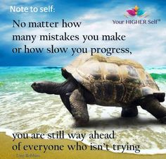 You are still way ahead of everyone who isn't trying!