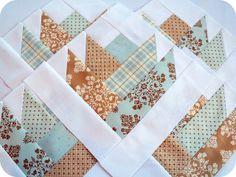 Patchwork bear paw quilt