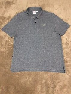 Size 6 NEW Free shipping! Large Dark Gray Lacoste Men's Polo Regular Fit