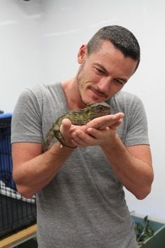 Luke Evans. With an iguana. Your argument is invalid.