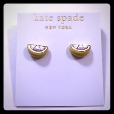 "‼️LAST PAIR! NWT kate spade Lemon Stud Earrings! ‼️LAST PAIR! NWT kate spade Lemon Stud Earrings!  Comes with ksny jewelry dust pouch. DETAILS: MATERIAL 12k gold and enamel coating FEATURES 14-karat gold filled posts style # o0ru0885 SIZE width: 0.5"" drop length: .25"" weight: 3.52g imported kate spade Jewelry Earrings"