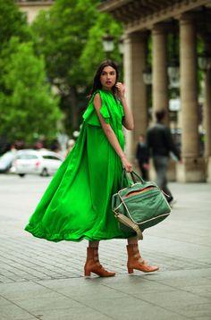 Chloe does Serious Green for Spring 12.  dressologyhq.blogspot.com
