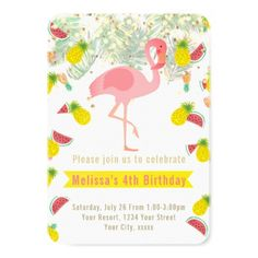 #girly - #kids birthday summer party card