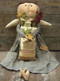 Primitive Margaret Doll Country Rustic Home Decor