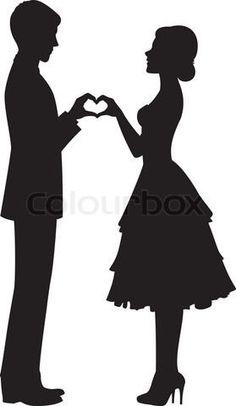 Bridesmaid Dress Silhouette Clip Art 3