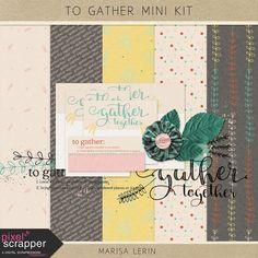 FREE To Gather Mini Kit thanksgiving fall family teal pink white gray black