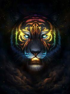 Dream Catcher - Signed Art Print - Fantasy Wolf Moon Dreamcatcher Galaxy Painting - by Jonas Jödicke Tiger Artwork, Tiger Painting, Galaxy Painting, Cool Artwork, Big Cats Art, Cat Art, Fantasy Kunst, Fantasy Art, Art Tigre