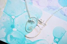 Ganesh OM Necklace  Silver Wire Spiritual Elephant by Exaltation, $25.00