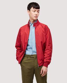 James Dean Style, Harrington Jacket, Dark Red, Timeless Fashion, Fashion Photo, Tartan, Knitwear, Fitness Models, Raincoat