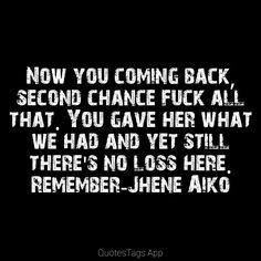 Remember-Jhene Aiko Lyrics #jheneaiko#souledout#2014