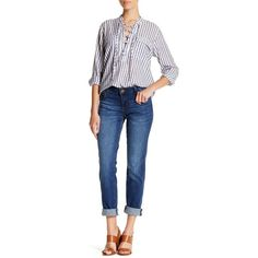 KUT from the Kloth Katy Boyfriend Jean ($43) ❤ liked on Polyvore featuring jeans, turnsol, kut from the kloth, faded blue jeans, zipper jeans, boyfriend fit jeans and blue jeans
