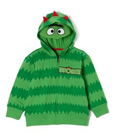 Another great find on #zulily! Green 'Brobee' Character Zip-Up Hoodie - Infant & Toddler by Yo Gabba Gabba! #zulilyfinds