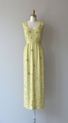 Malcom Starr beaded gown 1960s silk beaded dress by DearGolden
