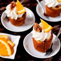 Orange Cupcakes with Brown Sugar Glaze Walnuts and Cream Cheese Frosting