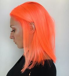 We rounded up the best rainbow hair color trends for each zodiac sign to try, including neon, metallic, and pastel looks. Coral Hair, Peach Hair, Peach Fuzz, Pulp Riot Hair Color, Natural Hair Styles, Long Hair Styles, Dye My Hair, Pretty Hairstyles, Hair Trends
