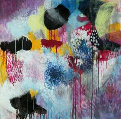 """Saatchi Online Artist Cristina B; Painting, """"Jellyfishes at the disco"""" #art"""