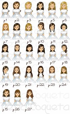 pelos niña_mod_6_pepacoqueta_18_01 First Holy Communion, Clay Dolls, Mini Me, Happy Day, Paper Dolls, Silhouette Cameo, Digital Marketing, Scrapbook, Comics